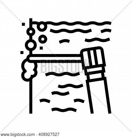 Spot Welding Line Icon Vector. Spot Welding Sign. Isolated Contour Symbol Black Illustration
