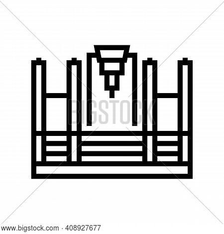 Butt Welding Machine Line Icon Vector. Butt Welding Machine Sign. Isolated Contour Symbol Black Illu
