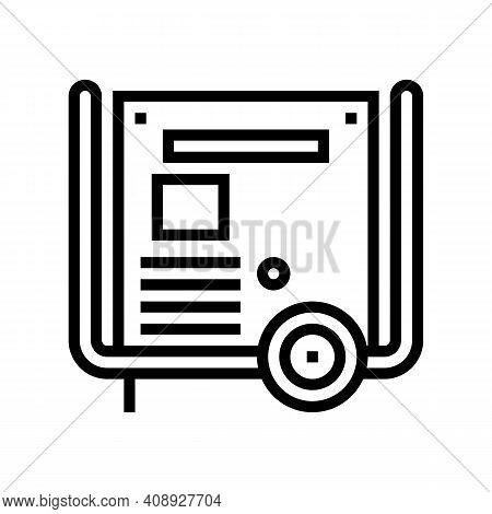 Transformer Electric Equipment Line Icon Vector. Transformer Electric Equipment Sign. Isolated Conto