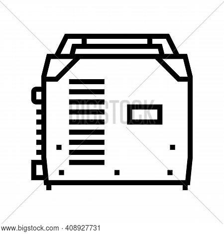 Inverter Welding Line Icon Vector. Inverter Welding Sign. Isolated Contour Symbol Black Illustration