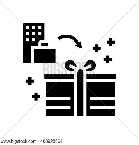Bonuses And Gifts Benefits Glyph Icon Vector. Bonuses And Gifts Benefits Sign. Isolated Contour Symb