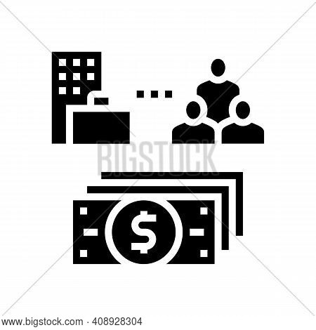 Business And Employees Benefits Glyph Icon Vector. Business And Employees Benefits Sign. Isolated Co