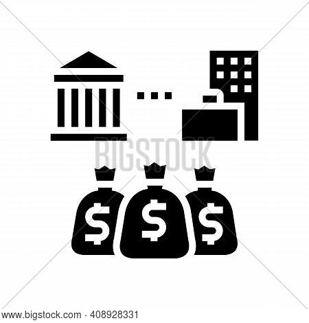 State Business Benefits Glyph Icon Vector. State Business Benefits Sign. Isolated Contour Symbol Bla