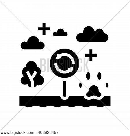 Biotope Ecosystem Glyph Icon Vector. Biotope Ecosystem Sign. Isolated Contour Symbol Black Illustrat