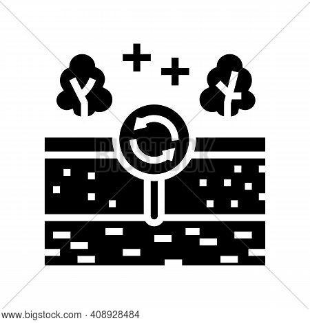 Edaphotop Ecosystem Glyph Icon Vector. Edaphotop Ecosystem Sign. Isolated Contour Symbol Black Illus