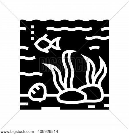 Hydrosphere Ecosystem Glyph Icon Vector. Hydrosphere Ecosystem Sign. Isolated Contour Symbol Black I