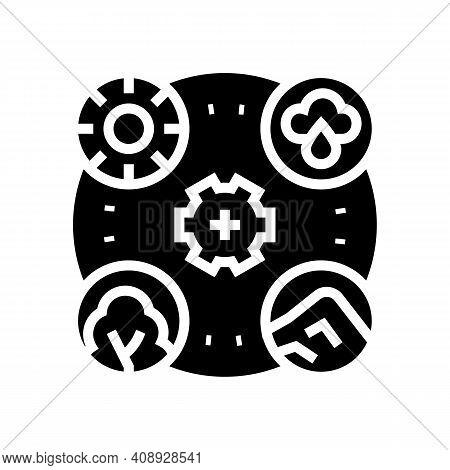 Planet Ecosystem Glyph Icon Vector. Planet Ecosystem Sign. Isolated Contour Symbol Black Illustratio