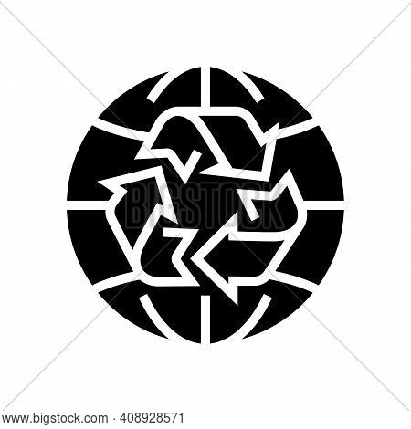 Environment Ecosystem Glyph Icon Vector. Environment Ecosystem Sign. Isolated Contour Symbol Black I