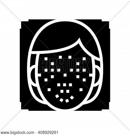 Facial Points For Face Id Technology Glyph Icon Vector. Facial Points For Face Id Technology Sign. I