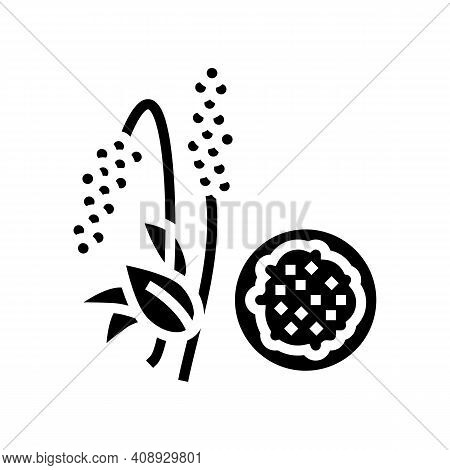 Amaranth Groat Glyph Icon Vector. Amaranth Groat Sign. Isolated Contour Symbol Black Illustration