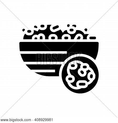 Bulgur Groat Glyph Icon Vector. Bulgur Groat Sign. Isolated Contour Symbol Black Illustration