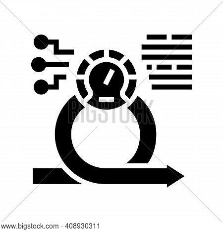 Speed Achievement Task Optimization Glyph Icon Vector. Speed Achievement Task Optimization Sign. Iso