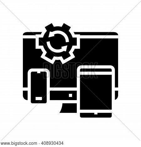 Technics Optimize Glyph Icon Vector. Technics Optimize Sign. Isolated Contour Symbol Black Illustrat