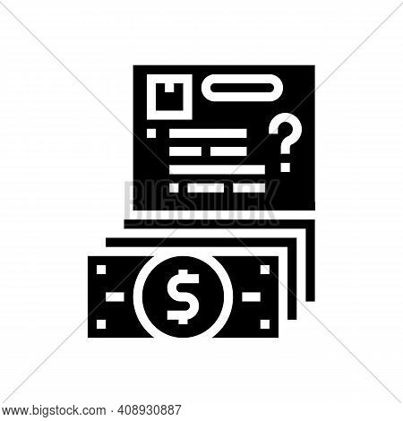 Budget Approval Glyph Icon Vector. Budget Approval Sign. Isolated Contour Symbol Black Illustration