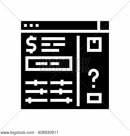 Invoice Approvals And Disputes Glyph Icon Vector. Invoice Approvals And Disputes Sign. Isolated Cont