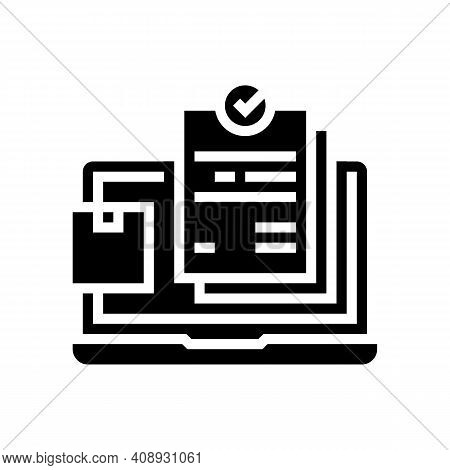 Internet Order And Procurement Glyph Icon Vector. Internet Order And Procurement Sign. Isolated Cont