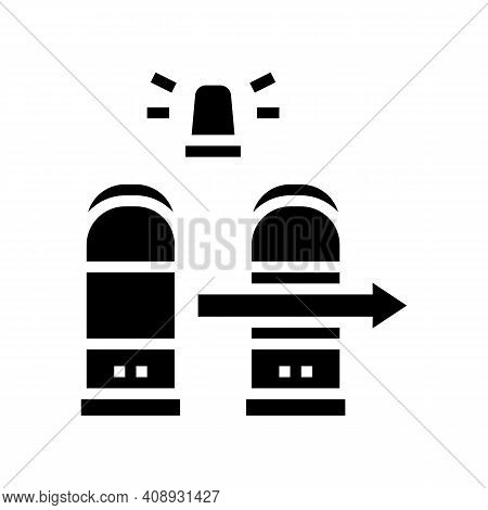 Technology Rfid For Access Glyph Icon Vector. Technology Rfid For Access Sign. Isolated Contour Symb