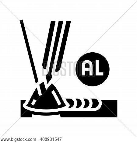 Aluminum Welding Glyph Icon Vector. Aluminum Welding Sign. Isolated Contour Symbol Black Illustratio