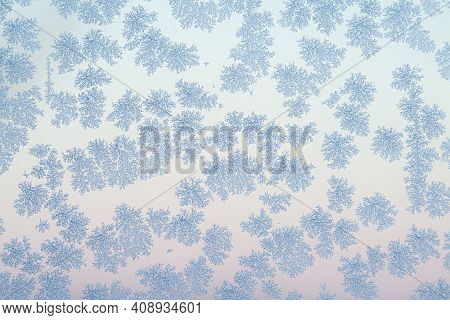 Frost Flakes On A Cold Morning In The Winter With Beautiful Natural Patterne Created By Nature