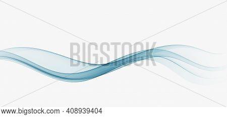Abstract Blue Wave Vector Background Blue Transparen Wave Flow