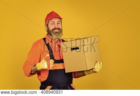 Shopping. Bachelor Day. Forced To Move. Man Courier Hold Boxes. Prepare For Moving. Rent House. Hips