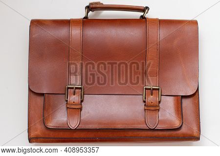 Genuine Leather Briefcase. Brown Leather Men's Bag. Leather. Men's Accessories Brown Leather Bags.