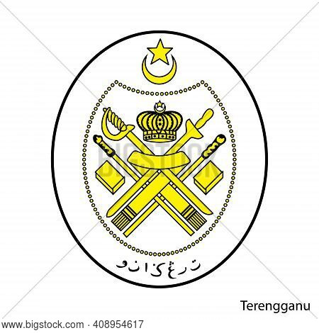 Coat Of Arms Of Terengganu Is A Malaysian Region. Vector Heraldic Emblem