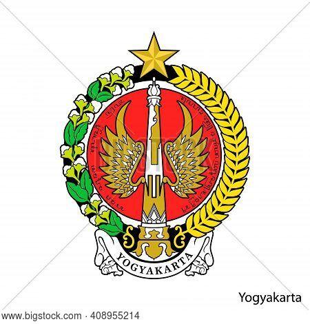 Coat Of Arms Of Yogyakarta Is A Indonesian Region. Vector Heraldic Emblem