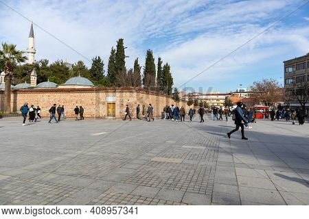29 January 2021 Gebze - Kocaeli Gebze District Square And Market. Community And Shopping Location. M