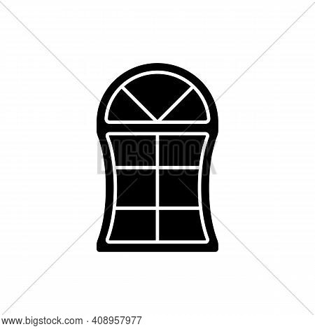 Custom Windows Black Glyph Icon. Fitting Design Into Window Opening. Unique, Distinctive Styles And