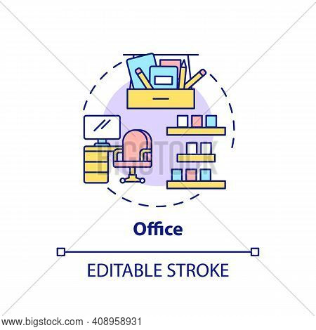 Office Concept Icon. Cleaning Agency Idea Thin Line Illustration. Regularly Scheduled Tidying. Keepi