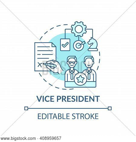 Vice President Concept Icon. Company Top Management Jobs. Executive Who Reports To President. Workpl
