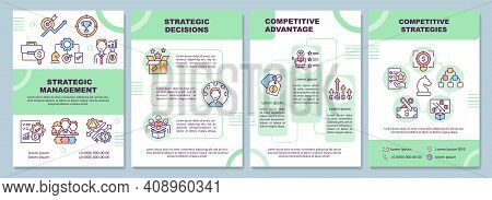 Strategic Management Brochure Template. Control Function Of Company. Flyer, Booklet, Leaflet Print,