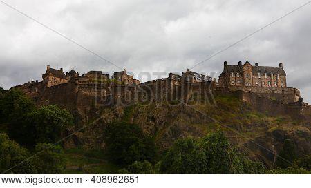 Edinburgh, Scotland/united Kingdom - July 15: A View Of Edinburgh Castle In Scotland On Hilltop On [