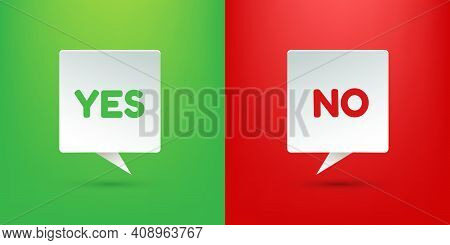 Sign Yes Or No. Placard Isolated Yes Or No. Votes Concept. Disagree, Agree, Feedback. Vector Stock