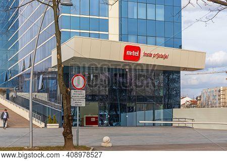 Banja Luka, Bosnia And Herzegovina - February 28, 2017: Mtel Mobile Telecom Company Building In Banj