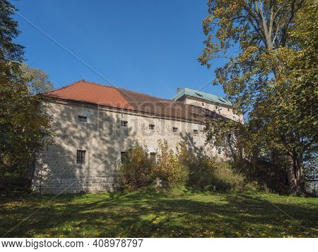 Medieval Early Gothic Castle Houska In North Bohemia In Autumn Time, Czech Republic. Houska Castle I