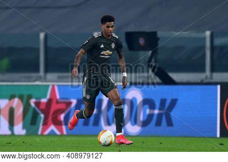 Torino, Italy. 18th February 2021. Marcus Rashford Of Manchester United Fc  During  Uefa Europa Leag
