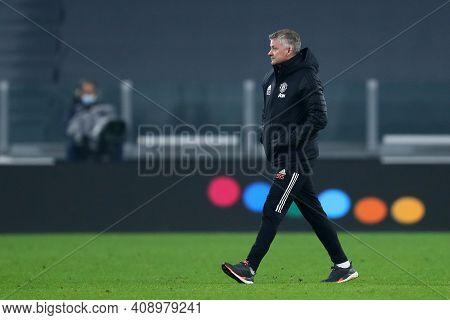 Torino, Italy. 18th February 2021. Ole Gunnar Solskjaer  Of Manchester United Fc  During  Uefa Europ