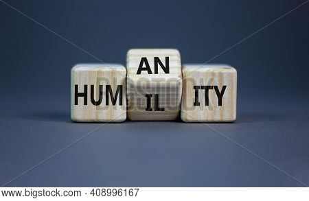 Humility Vs Humanity Symbol. Turned Cubes And Changed The Word 'humility' To 'humanity'. Beautiful G
