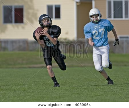 Youth Football Catching The Pass