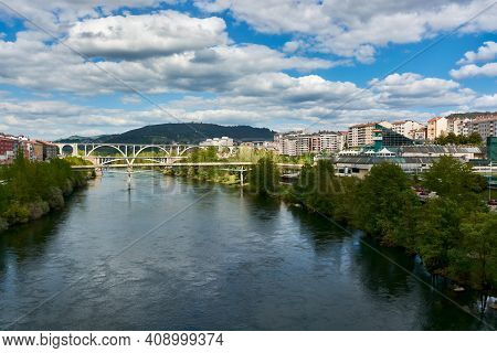 April 27, 2018 - Ourense, Galicia, Spain: City Of Ourense In Galicia, Spain. View Of The Minho River