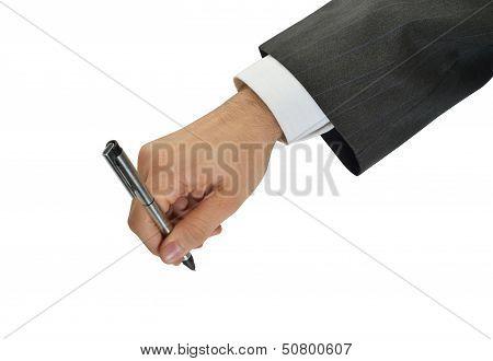 Hand signing executive