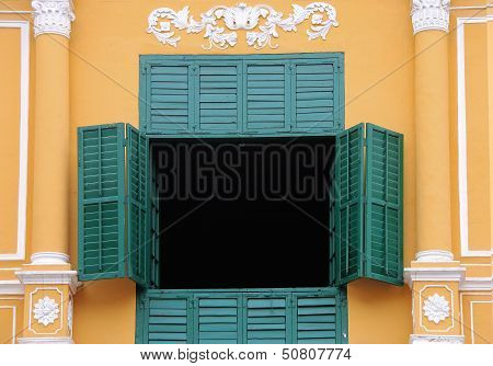 Asian Colonial Shutters and Window