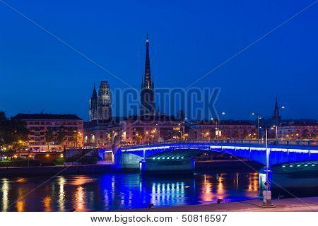 Rouen At Asummer Night