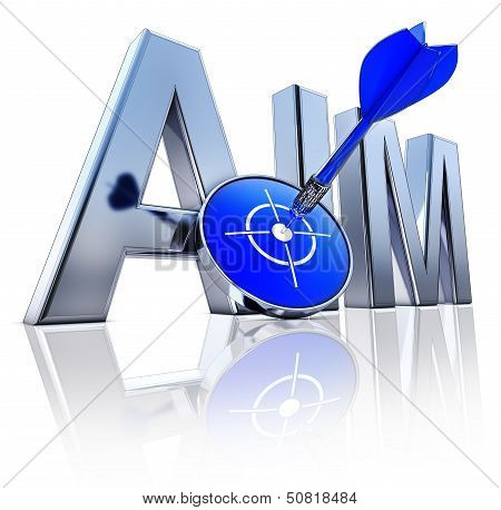 high resolution rendering of a AIM icon poster