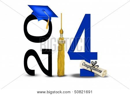 blue and gold for 2014 graduation