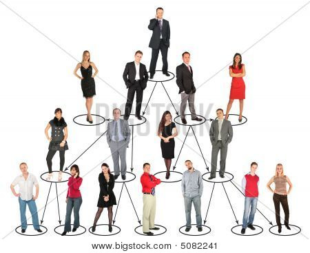 Different People Taking Diverse Positions And Levels Collage