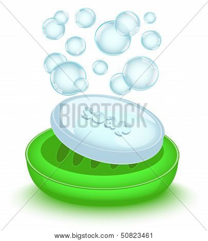 bar of soap with bubbles