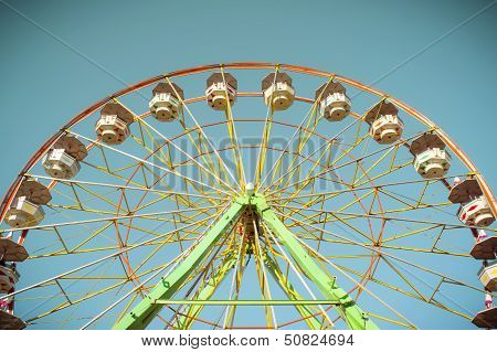 Ferris wheel on a sunny afternoon